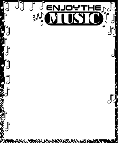 Music Notes clipart frame Clipart Note Panda Clipart Border