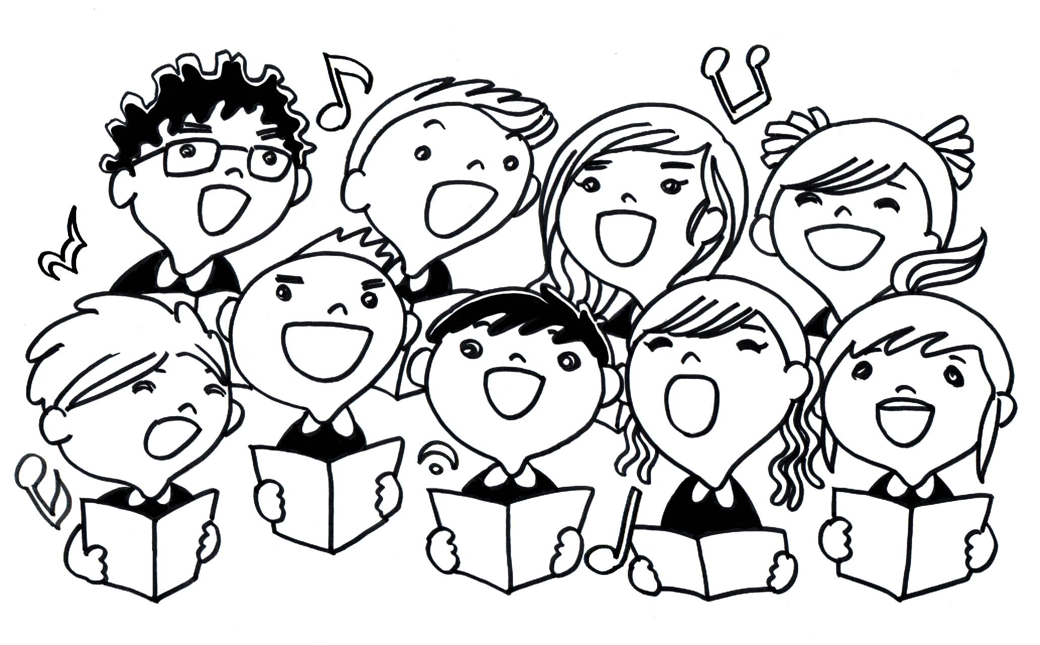 Winter clipart choir Notes 4 choir Choir clip
