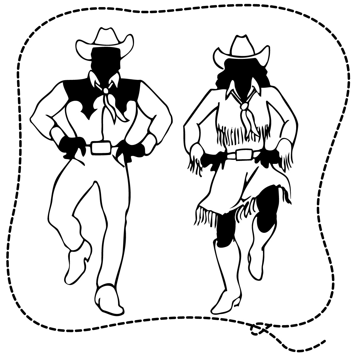 Cowboy clipart country dancing Free music clipart Clipart collection