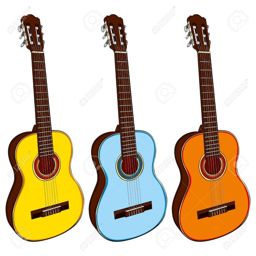 Background clipart guitar #3