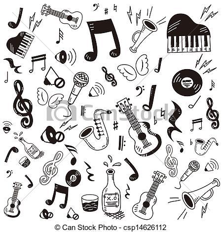 Music clipart hand drawn #2