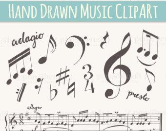 Music clipart hand drawn #3
