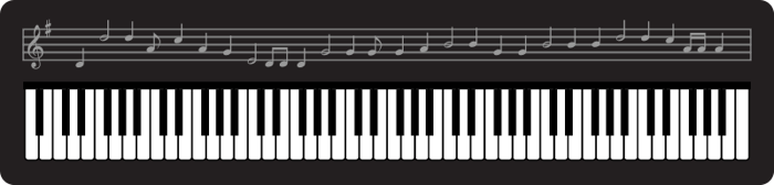 Music clipart keyboard Black and image Here's with