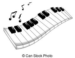 Music clipart keyboard A Musical colored musical Musical