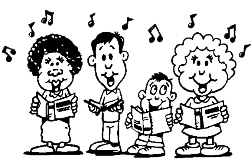 Singer clipart group singing Singing Grade Clipartion Children Program