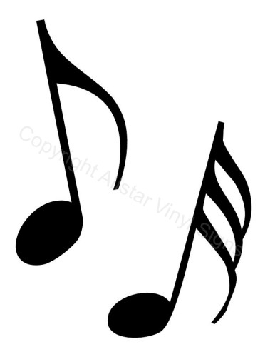Music clipart noted Decals Clip Car and Notes