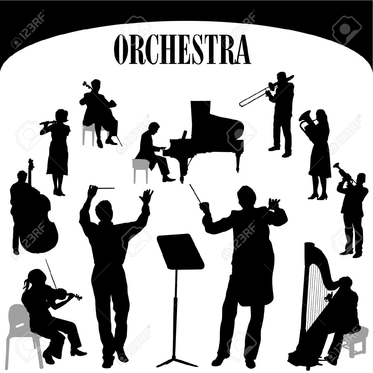 Music clipart orchestra Orchestra%20clipart Clipart Images Free Panda