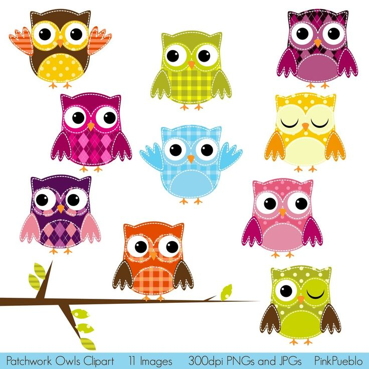 Patchwork clipart TulipWorks on and This Owls