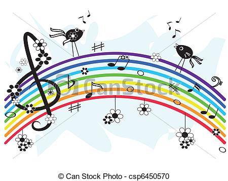 Music clipart rainbow Of Search csp6450570 Art
