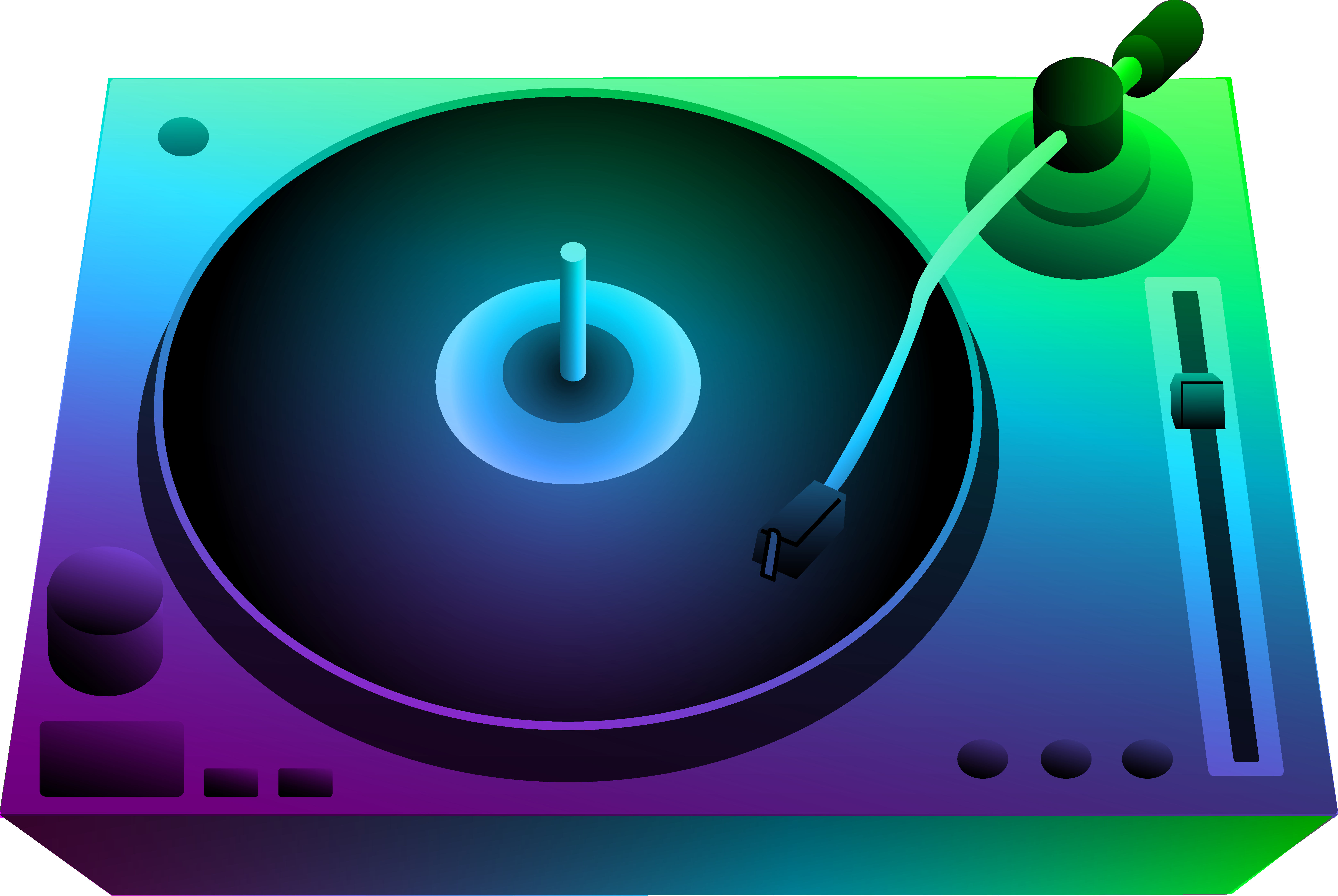 Club clipart dj dance Free Record Player Turntable Clip
