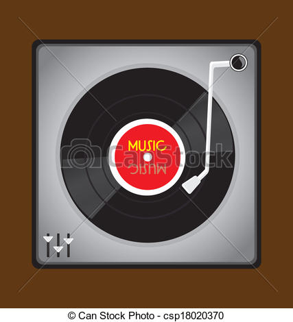 Record Player clipart vinyl record #5