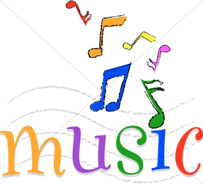 Word clipart music Music Happy Clipart Church Colorful