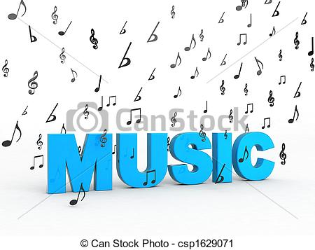 Word clipart music Flying notes  word Clipart
