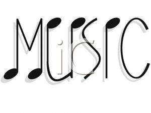 Word clipart music