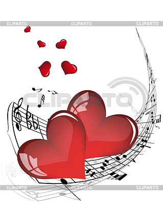 Music and Music hearts notes
