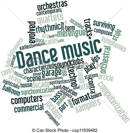Danse clipart word Stock Illustration for csp11839482 Dance