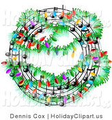 Music clipart wreath Decorated a Holiday a of