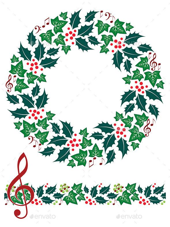 Music clipart wreath Christmas Seamless Seamless and Artyzan
