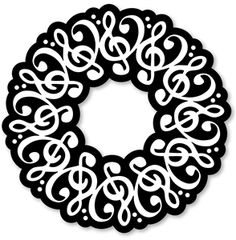 Music clipart wreath Place Class use wreath stars
