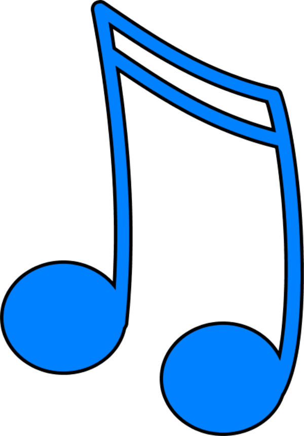 Color clipart music Vector Outline note Art Clip
