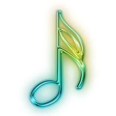 Neon clipart music note Music music  3D Music