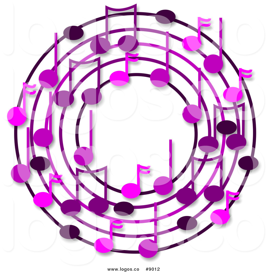 Music clipart wreath Purple of with a Logo