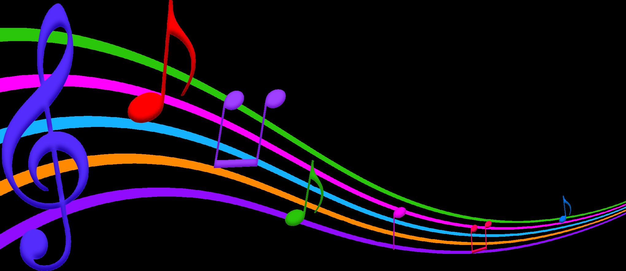 Color clipart music · staff art ClipartAndScrap Music