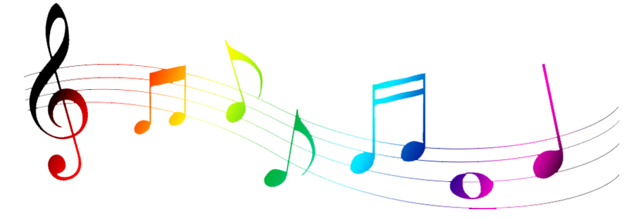 Color clipart music Free Image Notes Colorful 8645