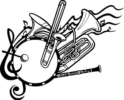 Brass clipart band conductor On  Notes Art Clipart
