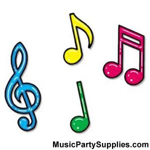 Fuzzy clipart cute music #4