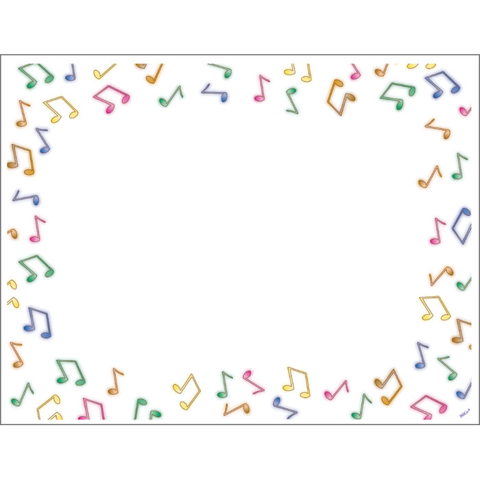 Music Notes clipart frame Clipart Landscape Border Kid Note