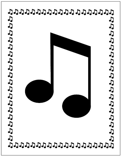 Music Notes clipart frame Note com musical border –
