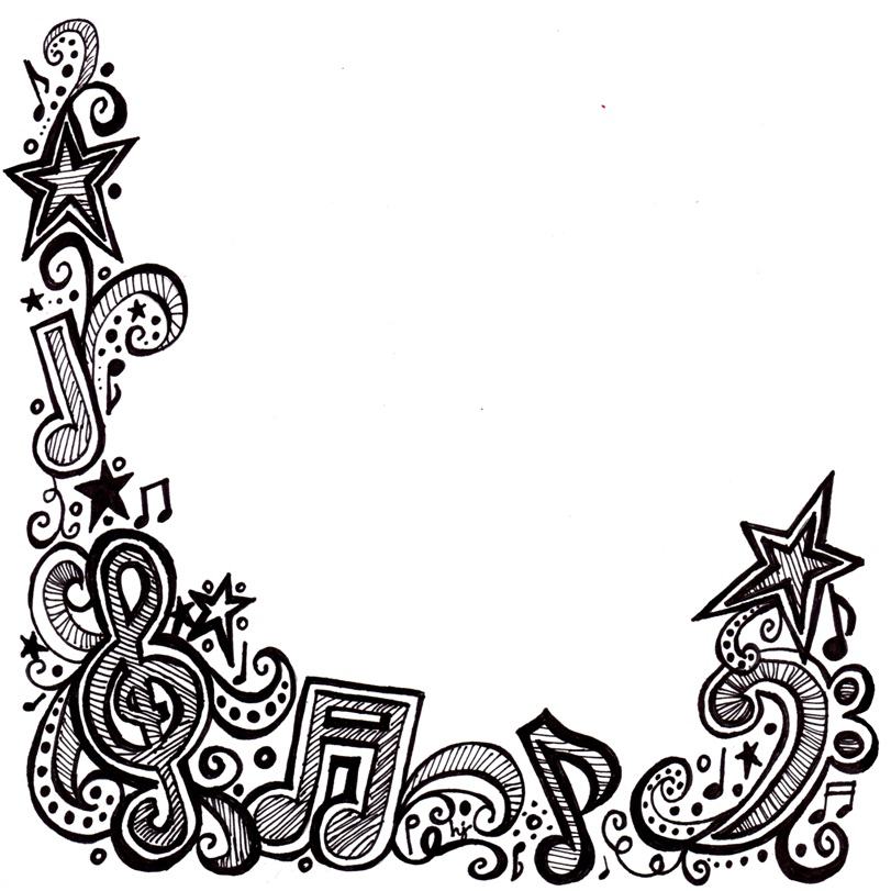 Music Notes clipart frame Good on A (Sewing Pix