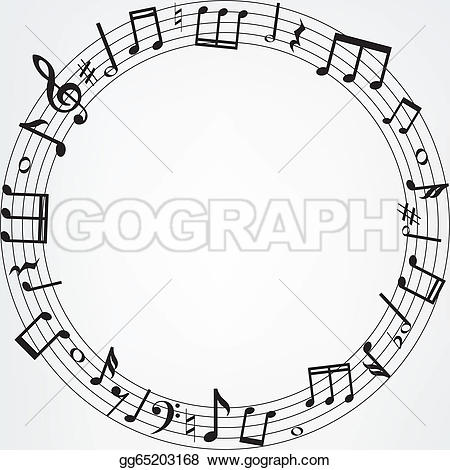 Music Notes clipart frame Notes Clip mesh border Free