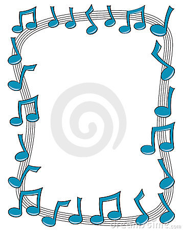 Music Notes clipart frame Art library Clip  Borders