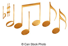 Music Notes clipart golden Symbols  of Stock gold