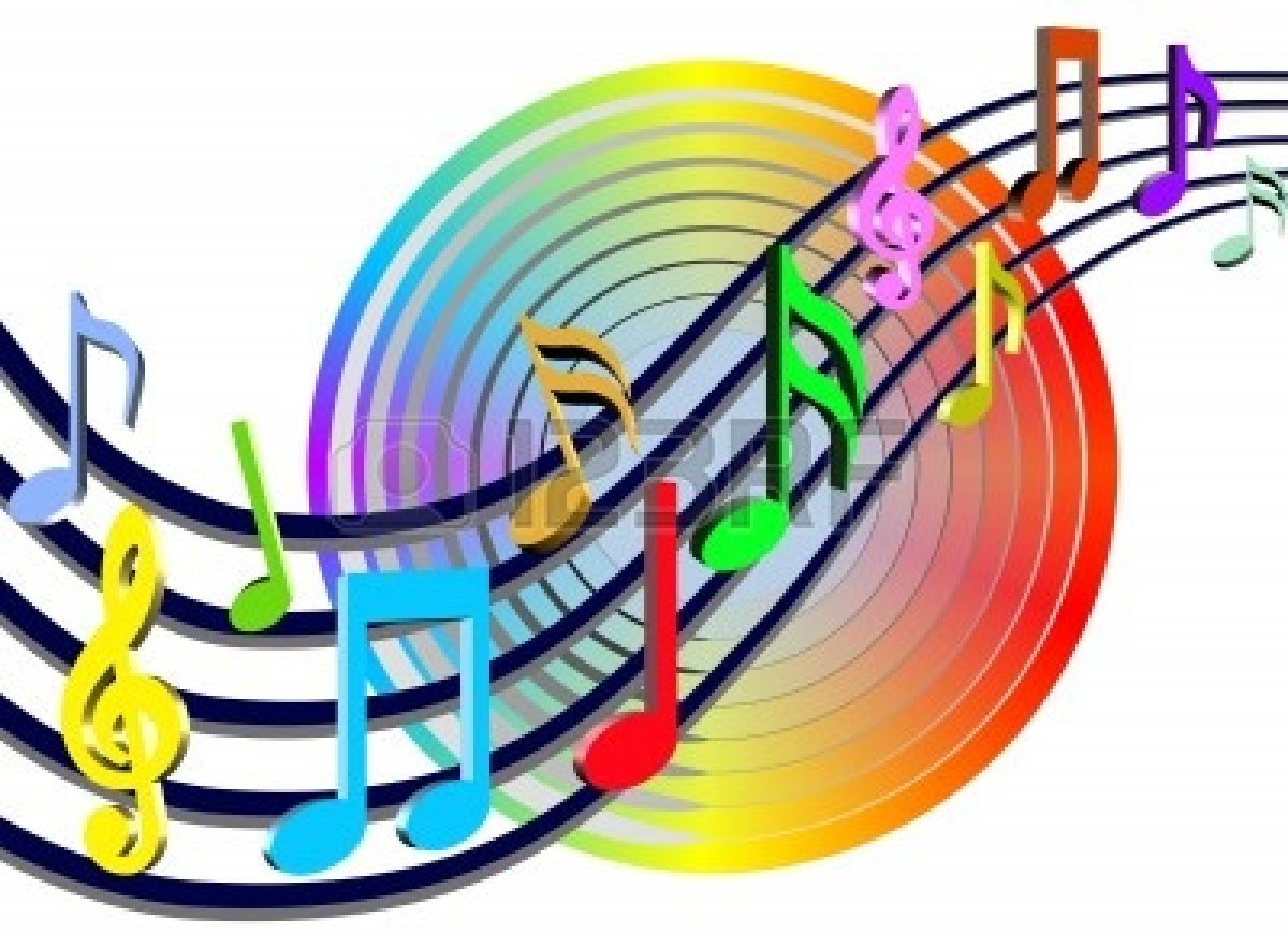 Singer clipart music symbol Music Notes Colorful Clip Notes