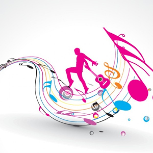 Music Notes clipart hip hop music Field background Hip disco music
