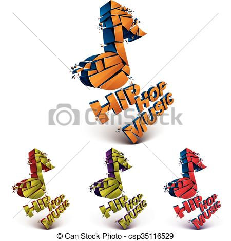 Music Notes clipart hip hop music And Illustration refractions theme specks