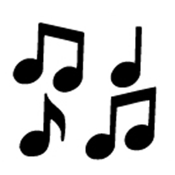 Music Notes clipart individual Single Clipart music individual Musical