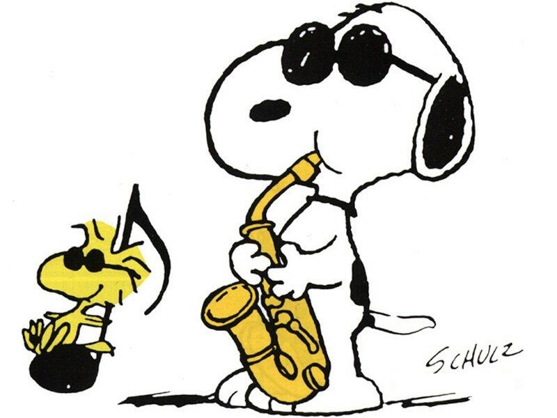 Snoopy clipart dancing Cartoon Music Page Pictures Items
