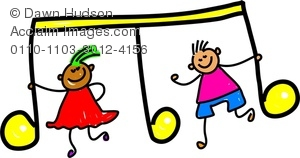 Musical clipart music class Girl Holding And Notes Image