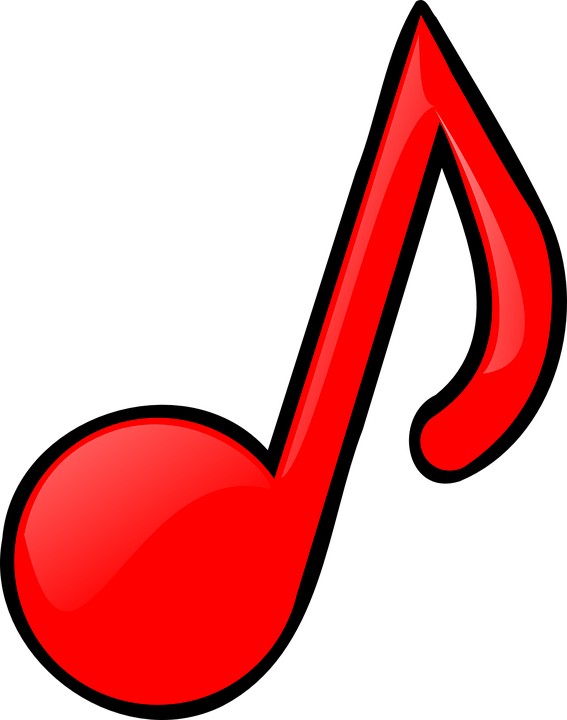 Musician clipart tune Note Melody red music Free