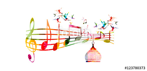 Music Notes clipart spring Music G notes vector colorful