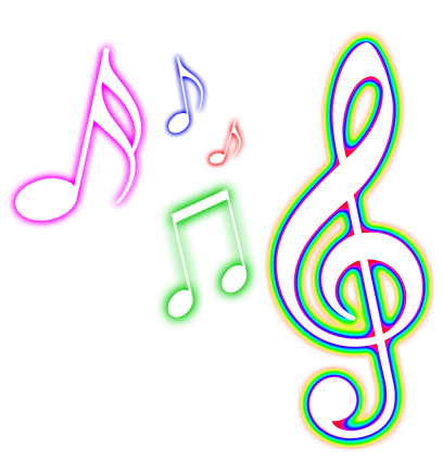 Musical clipart colorful Color notes clipart Png music