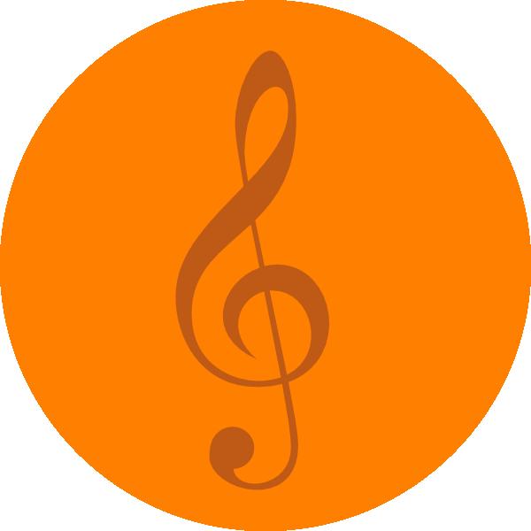 Music Notes clipart orange Clip com  image Music