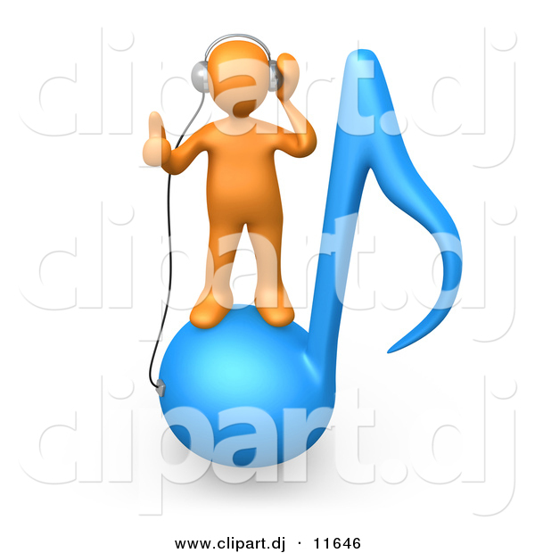 Music Notes clipart orange Note Blue Music of Man