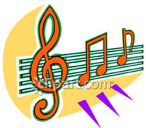 Music Notes clipart orange Sheet Notes Free Picture Notes