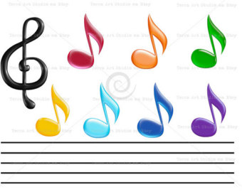 Music Notes clipart orange Music for 3d clipart graphic
