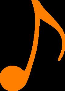 Music Notes clipart orange Vector Clker online Note Orange